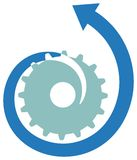 Tooth wheel logo stock illustration
