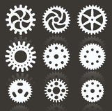 Tooth wheels (white) Stock Photography