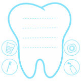 Tooth white blue background, teeth vector icon illustration first tooth Royalty Free Stock Images