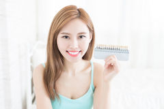 Tooth whiten concept Royalty Free Stock Photo