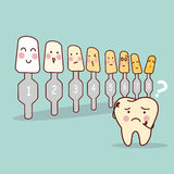 Tooth with whitening tool Stock Images