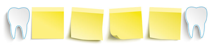 Tooth Yellow Sticks Header Stock Photography