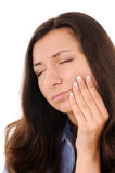 Toothache. Young woman is suffering from toothache Royalty Free Stock Photo