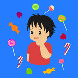 Toothache Boy Vector Royalty Free Stock Photos