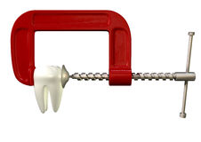 Toothache In Clamp Stock Photography