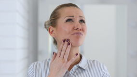 Toothache, Portrait of Woman in Teeth Pain stock video