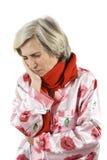 Toothache senior woman Royalty Free Stock Image