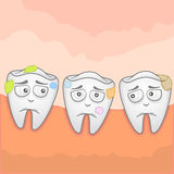 Toothache. Vector Illustration of a toothache Royalty Free Stock Images