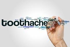 Toothache word cloud Stock Photos