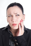 Toothache at work Royalty Free Stock Photos