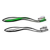 toothbrush иллюстрация штока