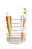 Toothbrush al lato di dentifricio in pasta fotografia stock libera da diritti