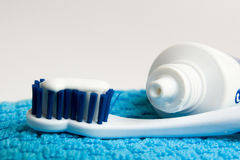 Toothbrush & pasta Fotografia de Stock