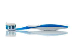 Toothbrush azul Imagem de Stock