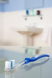 Toothbrush in bathroom Royalty Free Stock Photo