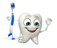 Toothbrush Character is running Stock Image