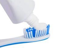 Toothbrush con dentifricio in pasta Fotografia Stock