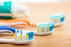Toothbrush dental care Stock Images