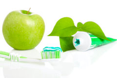 Toothbrush with dental paste. Stock Photography