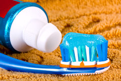 Toothbrush detail. Stock Images