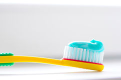 Toothbrush detail Royalty Free Stock Image