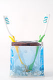 Toothbrush dois colorido Imagens de Stock Royalty Free