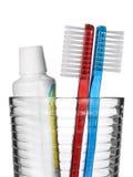 Toothbrush e dentífrico Imagem de Stock Royalty Free
