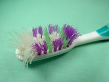 Toothbrush gastado Imagem de Stock Royalty Free