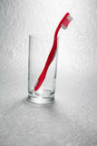 Toothbrush in Glass Stock Image
