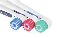 Toothbrush heads Stock Photography
