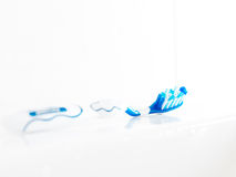 Toothbrush in high key close up Stock Images