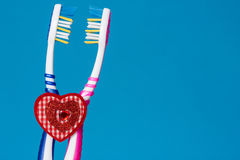 Toothbrush for him and for her Stock Images