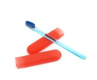 Toothbrush i skrzynka pudełkowaty właściciel Obraz Royalty Free