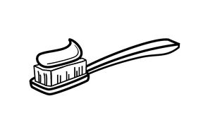 Toothbrush icon Stock Photography