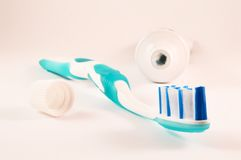 Toothbrush. A toothbrush in macro photography Stock Photos