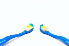 Toothbrush new and used Stock Images