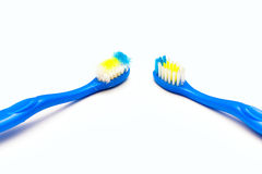 Toothbrush new and used Royalty Free Stock Image