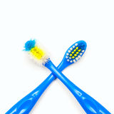 Toothbrush new and used Stock Photography