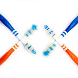 Toothbrush new and used Royalty Free Stock Photos