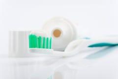 toothbrush pasta do zębów Zdjęcia Stock