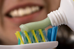 Toothbrush and paste Royalty Free Stock Image