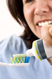 Toothbrush and paste Stock Images