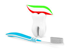 Toothbrush with Paste Stock Photo