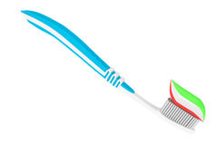 Toothbrush with Paste Stock Images