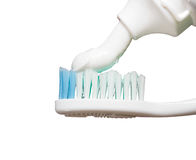 Toothbrush with paste Stock Image