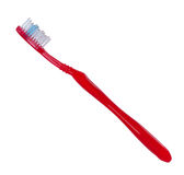 Toothbrush red color on white background. Royalty Free Stock Photos