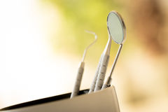 Toothbrush set for dental care Royalty Free Stock Images