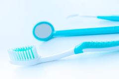 Toothbrush set for dental care Stock Image