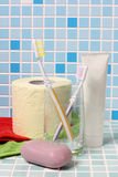 Toothbrush and soap Stock Image