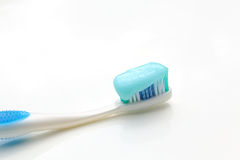 toothbrush on the table with toothpaste Stock Photography